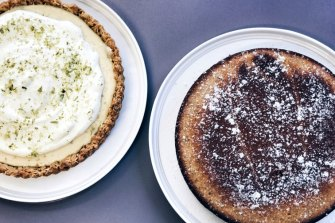 Lately we've been eating home made desserts, such as this tart and cake, every day.