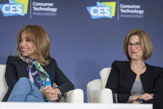 Facebook chief privacy officer Erin Egan (left) and Apple senior director of global privacy Jane Horvath discuss consumer data at CES.